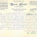 A Letter From 1898